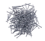 A handful of nails isolated Royalty Free Stock Image