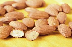 Nuts of almonds Royalty Free Stock Photography