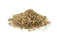 A handful of oak sawdust Stock Photo