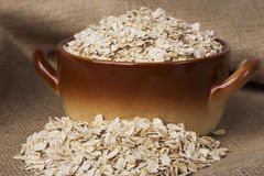 A handful of oatmeal Royalty Free Stock Photography