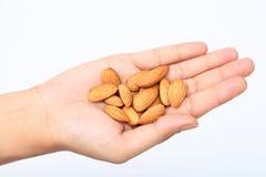 Free Handful Of Almonds Stock Photo - 165041400
