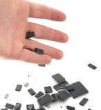 Handful Of Microchips Royalty Free Stock Images
