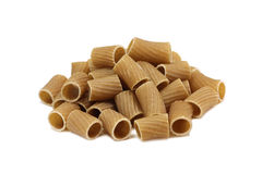 A handful of pasta hardwood wheat Stock Image