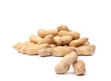 A handful of peanuts for two pods Royalty Free Stock Photography