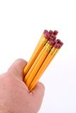 Handful of Pencils stock photo