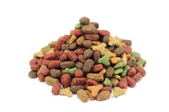 A handful of pet food Stock Image