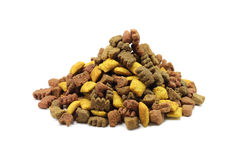 A handful of pet food Royalty Free Stock Photo