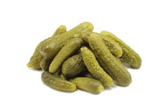 A handful of pickled cucumbers gherkins Stock Image