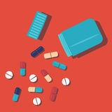 Handful of pills Royalty Free Stock Photography
