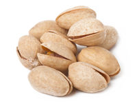 Handful of pistachios Stock Images