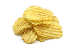 A handful of potato chips Stock Photography