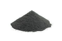 A handful of powdered charcoal Stock Photos