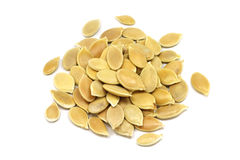 A handful of pumpkin seeds Stock Images