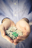 Handful puzzle Royalty Free Stock Photos