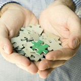 Handful puzzle Royalty Free Stock Images