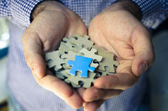 Handful puzzle Royalty Free Stock Photo