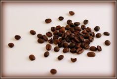 A handful of roasted coffee-beans Stock Image