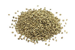 A handful of roasted hemp seed Royalty Free Stock Image