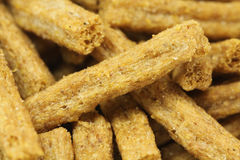 A handful of rye crackers  background Royalty Free Stock Photos