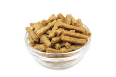 A handful of rye crackers in glass bowl Royalty Free Stock Photos