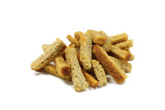 A handful of rye crackers Royalty Free Stock Photography