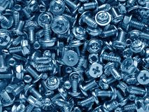 Handful of screws Stock Photos