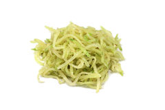 A handful of shredded green radish Royalty Free Stock Image