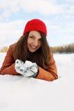 Handful of snow Stock Photo
