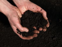 Handful of soil Royalty Free Stock Photos