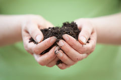 Handful of soil or dirt Royalty Free Stock Photo