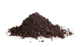 Handful of soil isolated Royalty Free Stock Photos