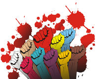 Handful. People hand full blood symbol of freedom vector design illustration Stock Photography