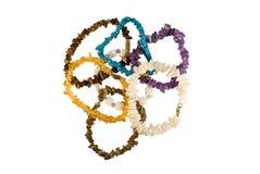 Handful  of stone beads Stock Photography