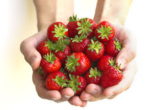 Handful of strawberries Royalty Free Stock Photos