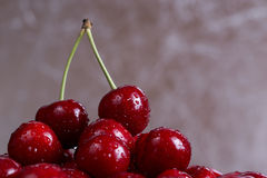 Handful of sweet cherry Stock Image
