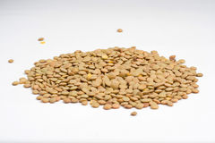 Handful of uncooked lentils Stock Photo