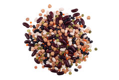 Handful of the various bean Royalty Free Stock Photo