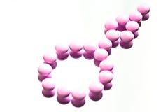 Handful of vitamin supplement capsules Stock Photo