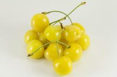 Handful of yellow sweet cherries Stock Image