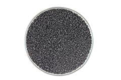 Handfull aktiverade kolpartiklar Fotografering för Bildbyråer
