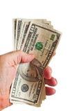 Handfull der kleinen amerikanischen Rechnungen Lizenzfreies Stockfoto