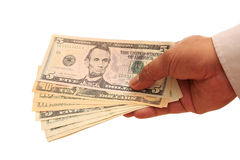 Handfull Of Dollars Stock Photography