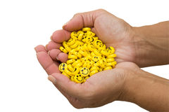 Handfuls of Happiness Royalty Free Stock Photos