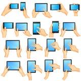 Handgebaar voor Touchscreen Stock Foto