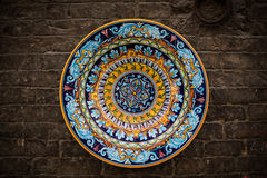 Handgefertigte dekorative Platte stockfotografie