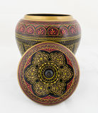 Handgefertigte hölzerne Antike gemaltes Schmuckkästchen Stockfoto