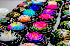 Handgefertigte Seifenblumen stockfotos