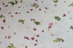 Handgefertigtes umweltfreundliches Papier Stockfotos