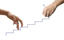 Handgehende Treppe lizenzfreies stockbild