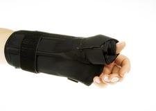 Handgelenk Orthosis auf lokalisiertem Weiß Lizenzfreie Stockfotos